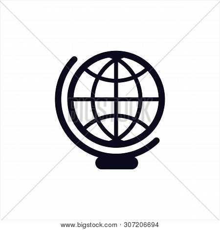 Globe Icon Isolated On Blue Background, Globe Icon Eps10, Globe Icon Vector, Globe Icon Eps, Globe I
