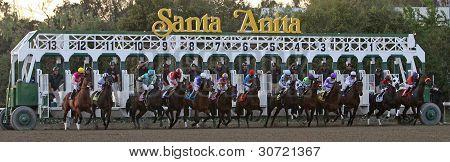 Gate Break For The Santa Anita Handicap 2012