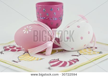 Easter Egg And Egg Cup