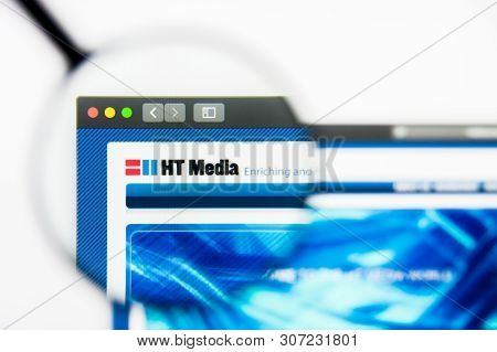 New York, New York State, Usa - 19 June 2019: Illustrative Editorial Of Ht Media Website Homepage. H
