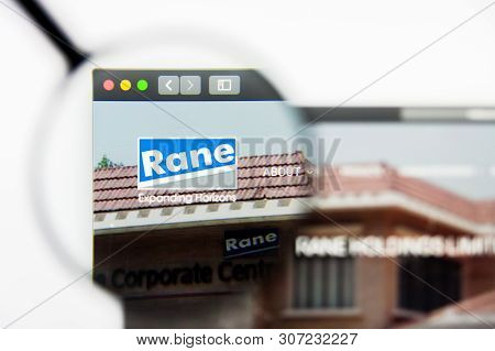 New York, New York State, Usa - 19 June 2019: Illustrative Editorial Of Rane Holdings Website Homepa
