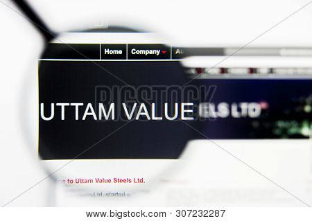 New York, New York State, Usa - 19 June 2019: Illustrative Editorial Of Uttam Value Steels Website H