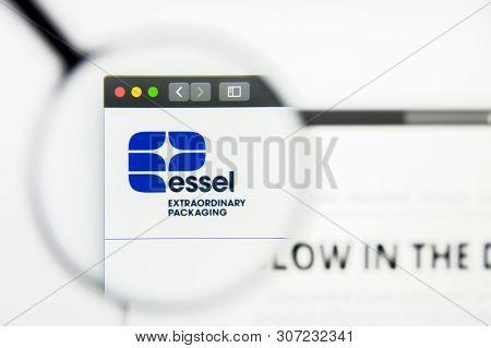 New York, New York State, Usa - 19 June 2019: Illustrative Editorial Of Essel Propack Website Homepa