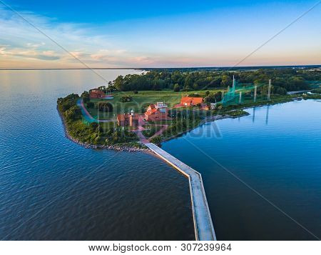 Aerial View Of Vente Cape In Lithuania, Bird Ringing Place