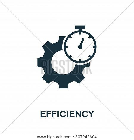 Efficiency Vector Icon Symbol. Creative Sign From Quality Control Icons Collection. Filled Flat Effi