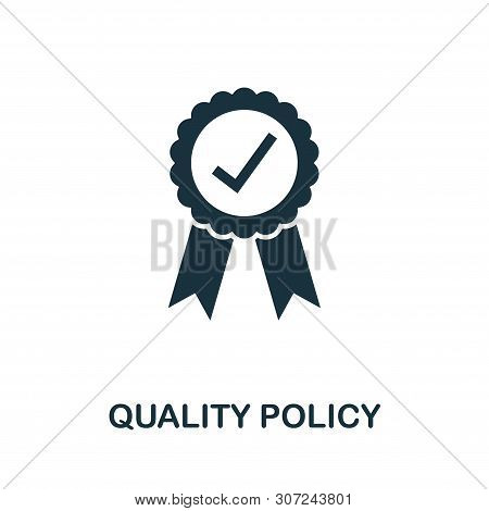 Quality Policy Vector Icon Symbol. Creative Sign From Quality Control Icons Collection. Filled Flat