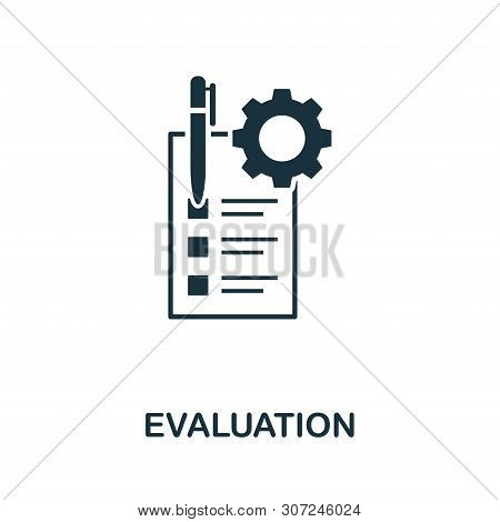 Evaluation Vector Icon Symbol. Creative Sign From Quality Control Icons Collection. Filled Flat Eval