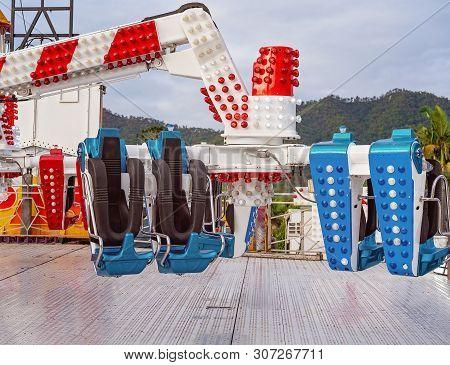 Mackay, Queensland, Australia - June 2019: Amusement Thrill Ride At Pioneer Valley Show
