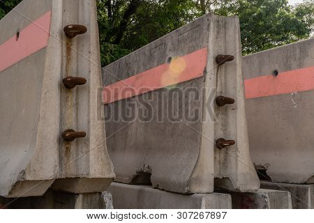 Sections Of Concrete Median