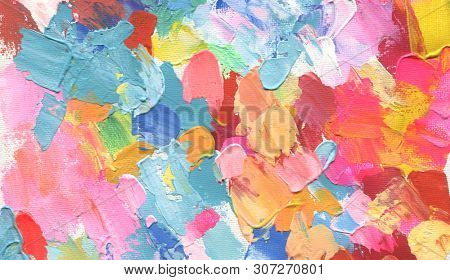 Abstract ?color acrylic and watercolor painting. Canvas texture background.