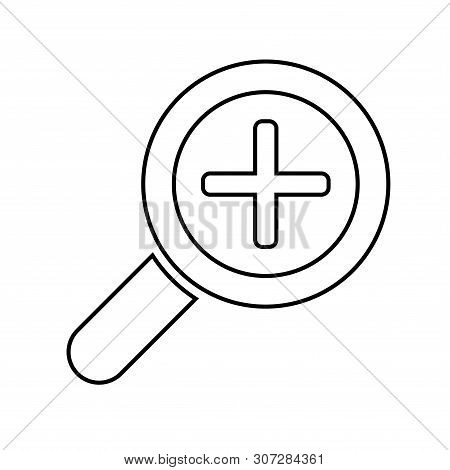 Zoom In Icon Isolated On White Background From Miscellaneous Collection. Zoom In Icon Trendy And Mod