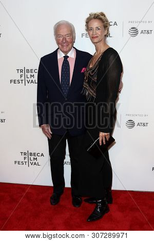 NEW YORK-APR 26: Actors Christopher Plummer (L) and Janet McTeer attend 'The Exception' screening during the 2017 TriBeCa Film Festival at BMCC Tribeca PAC on April 26, 2017 in New York City.