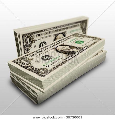 Stapel von einem dollar