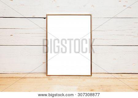 8x10 18x20 Frame Mockup, Styled Mockup On Wood Background, Vertical Frame