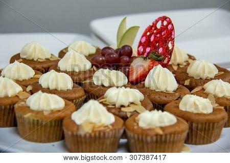 A Mini Banana Cup Cake On Plate