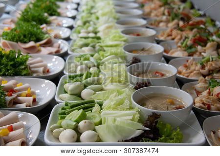 A Set Thai Food For Lunch And Dinner