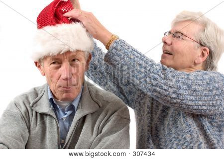 Putting On The Christmas Hat