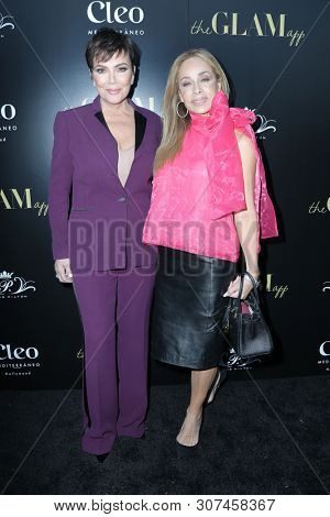 LOS ANGELES - JUN 19:  Kris Jenner, Faye Resnick at the The Glam App Celebration Event at the Cleo on June 19, 2019 in Los Angeles, CA