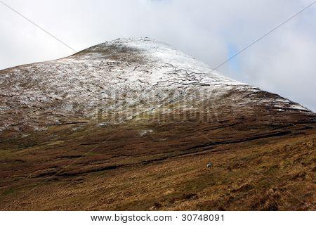 The Galtee mountains in winter, Ireland.