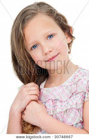 Close Up Portrait Of Cute Girl.