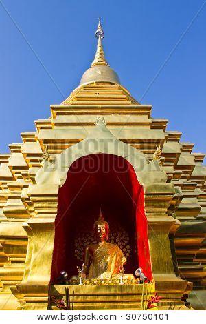 Chedi In Wat Pan Ohn Chiangmai