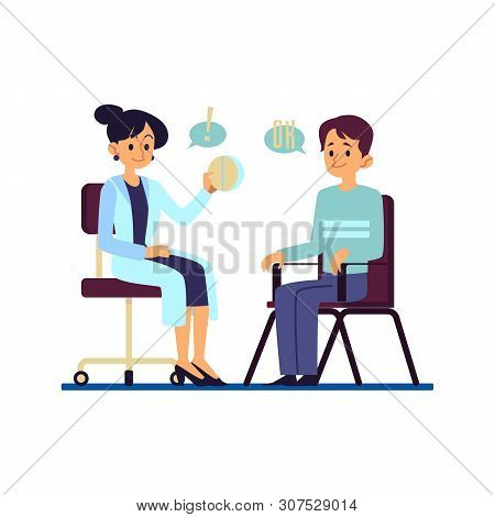 Consultation Doctor Woman And Prescription Of Drugs And Pills With Male Patient Consent.
