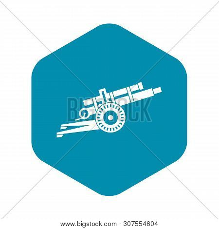 Artillery Gun Icon In Simple Style Isolated On White Background Vector Illustration