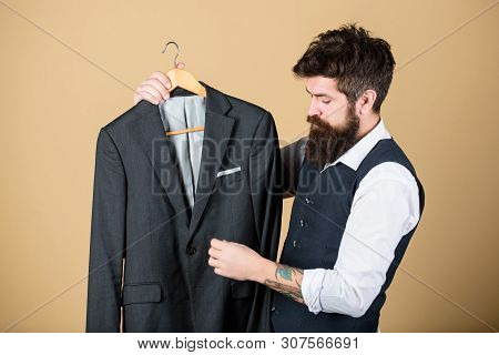 Perfect Fit. Custom Made To Measure. Tailored Suit Concept. Fashion For Business People. Custom Made