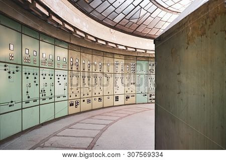 Control Room In Old Defunct Power Station