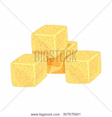 Isolated Object Of Croutons And Bread Icon. Collection Of Croutons And Bowl Vector Icon For Stock.