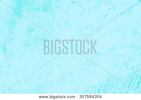Light Blue Turquoise Color Concrete Background, Beton Pattern