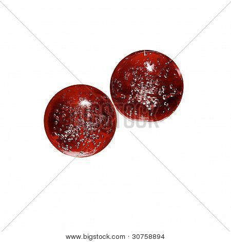 Glass Balls With Air Bubbles Inside.