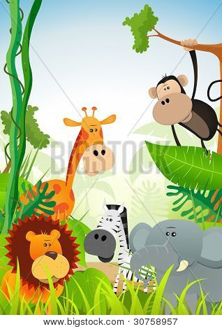 Wild Animals Background