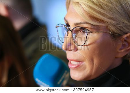 Bucharest, Romania - Februarry 19, 2019: Raluca Turcan, First Vice-president Communication Of The Na