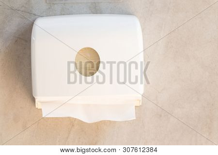 Tissues Paper Towel Dispenser On The Wall
