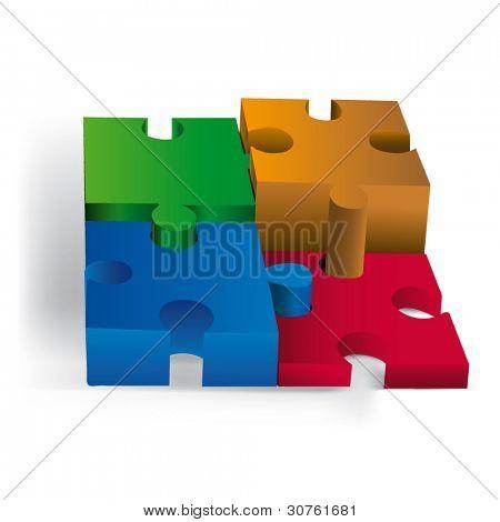 3D diagrams of puzzle