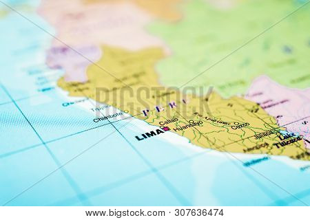 Peru Map Background. Detailed Atlases For Travelers