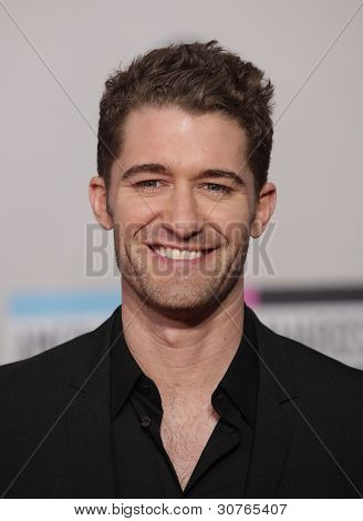 LOS ANGELES - NOV 20:  Matthew Morrison arrives to the American Music Awards 2011  on November 20, 2011 in Los Angeles, CA