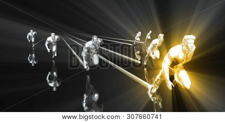 Leadership Concept with Business Professional Leading the Way 3D Render