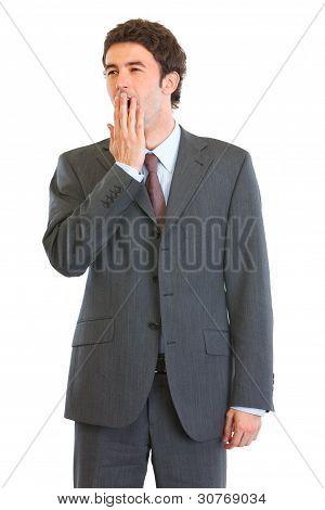 Portrait Of Yawing Employee