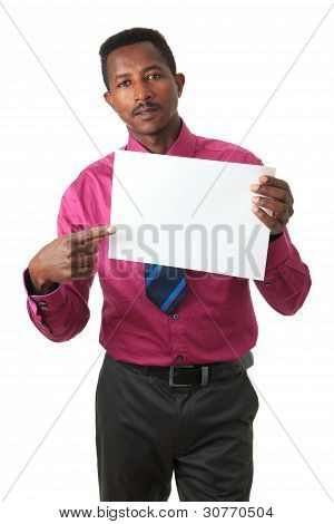 Businessman With Tie Black Afro American Isolated
