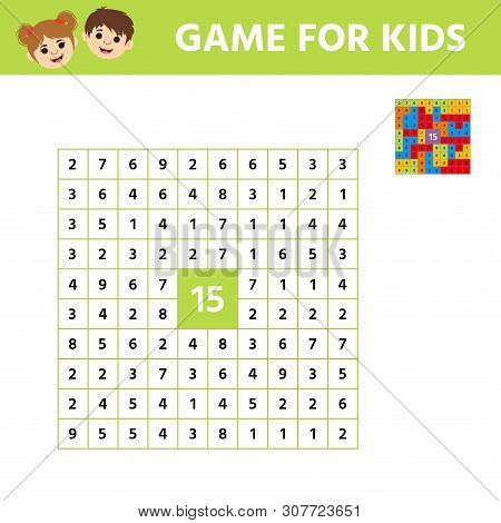 Mathematical Educational Tasks For Kids. Learning Counting, . Children Funny Riddle Entertainment. R