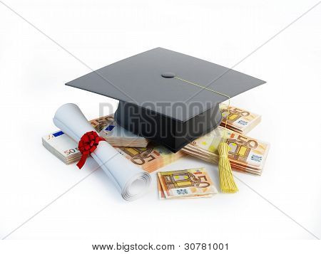 Price Leaving Certificate or training on a white background poster