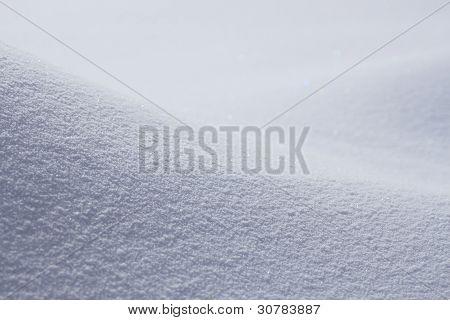 Snowfield In Winter