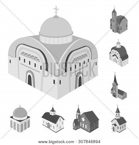 Isolated Object Of Landmark And Clergy Icon. Collection Of Landmark And Religion Vector Icon For Sto
