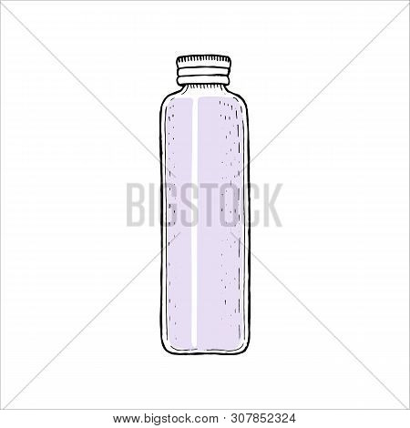 Empty Bottle With Cap, Empty Container Template Phial With Spray, Dispenser, Dropper, Jar, Tube. Cos