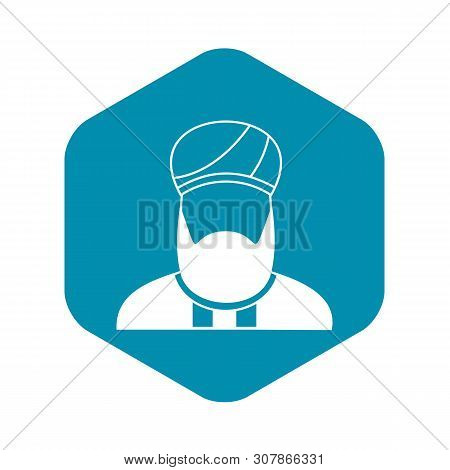 Muslim Preacher Icon In Simple Style On A White Background Vector Illustration