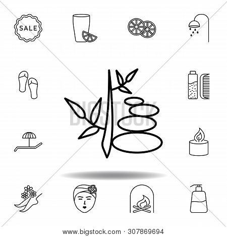 Walkway Plant Outline Icon. Detailed Set Of Spa And Relax Illustrations Icon. Can Be Used For Web, L