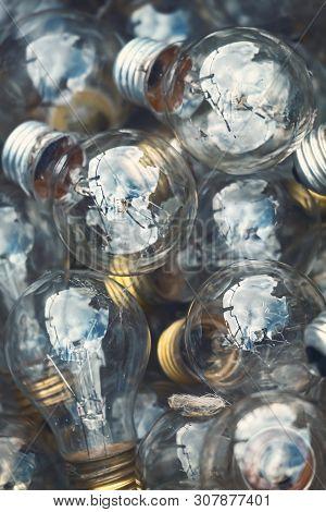 Close Up Of A Heap Of Light Bulbs