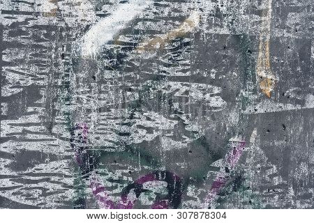 Many Times Painted Concrete Wall For Backgrounds And Overlays